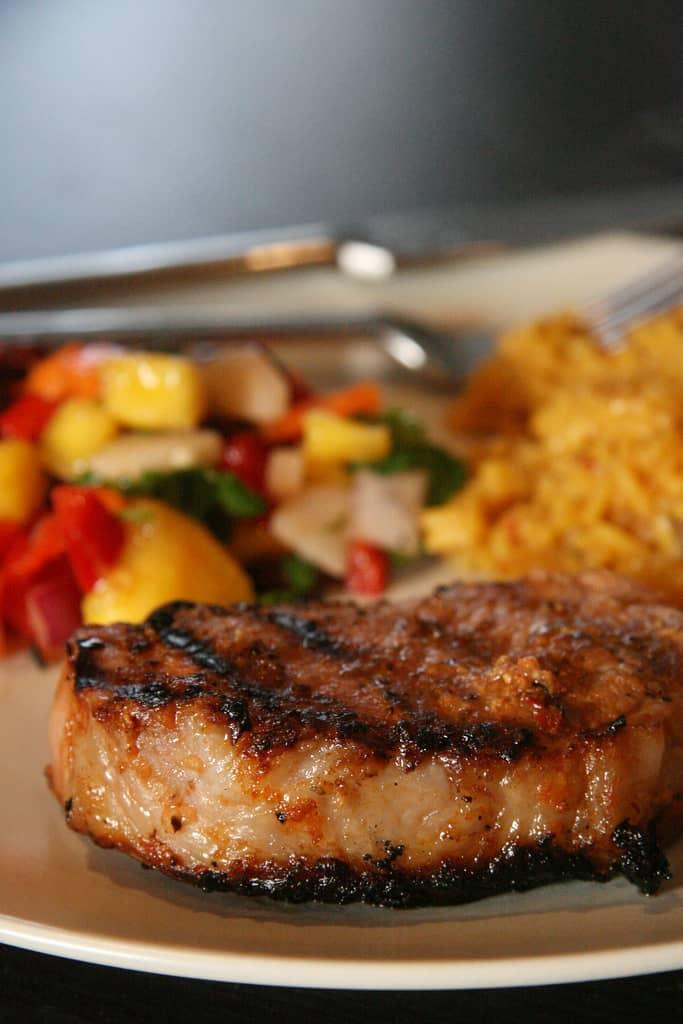 BBQ Time! – Chipotle Pork Chops w/ Mango Salsa