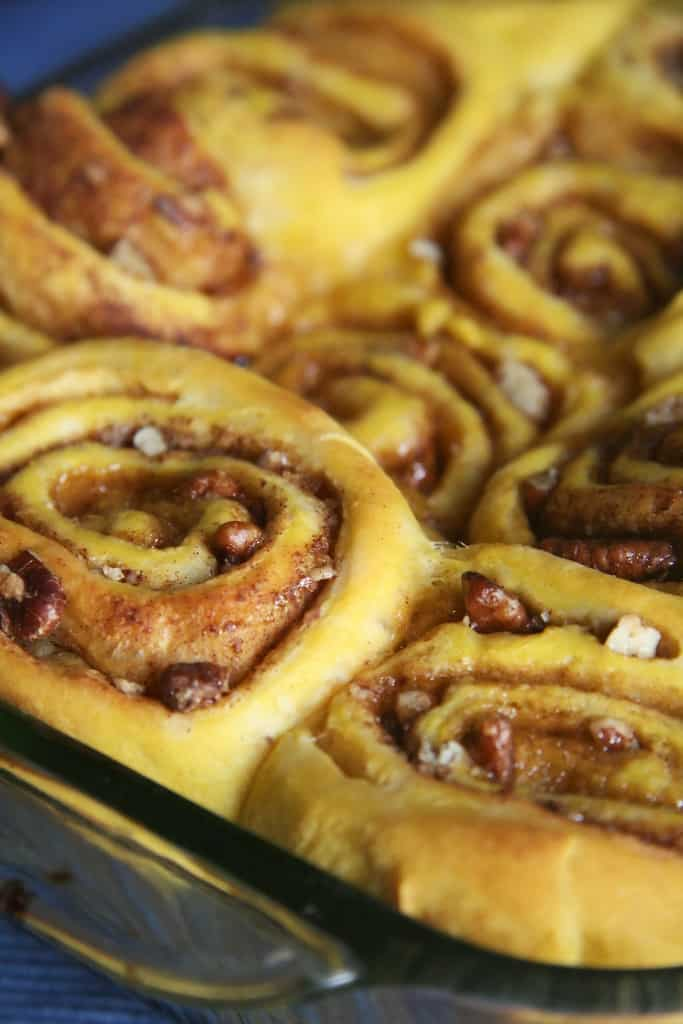 A Farewell to Fall – Pumpkin Cinnamon Buns