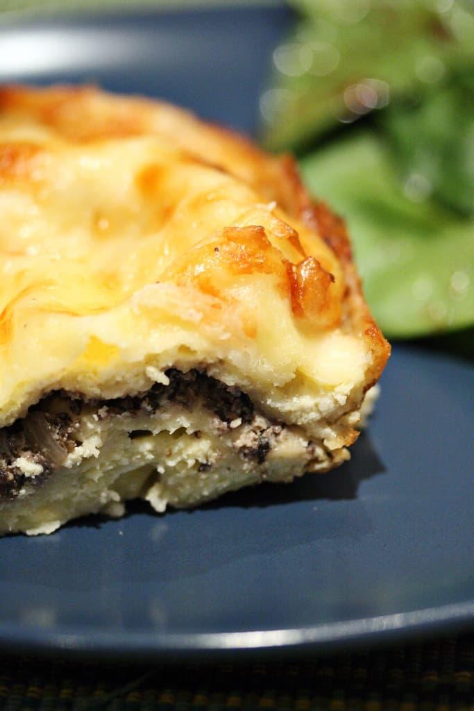 Something Cheesy – Creamy Mushroom Lasagna