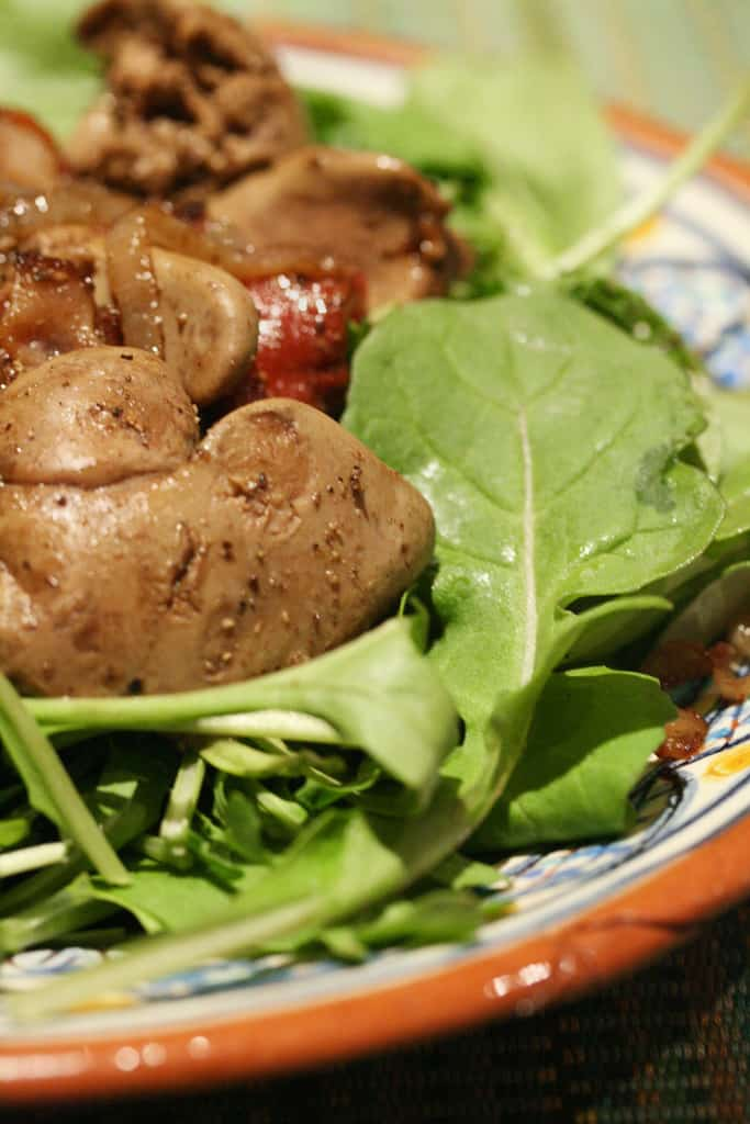 For the Love of Liver – Warm Balsamic Chicken Liver Salad