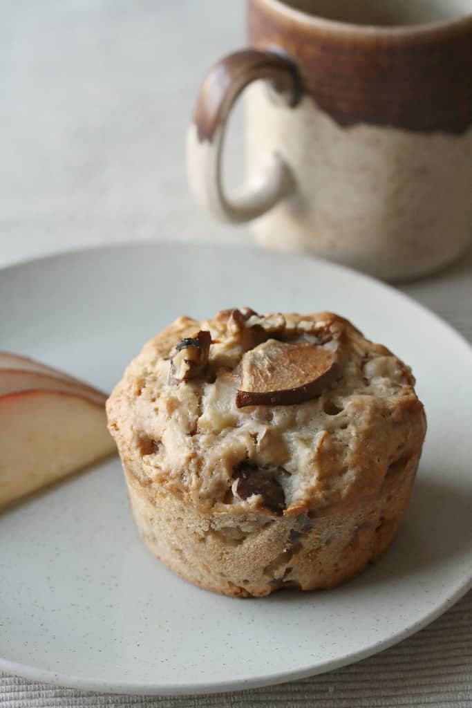 A Perfect Pair: Pear Ginger Walnut Muffins