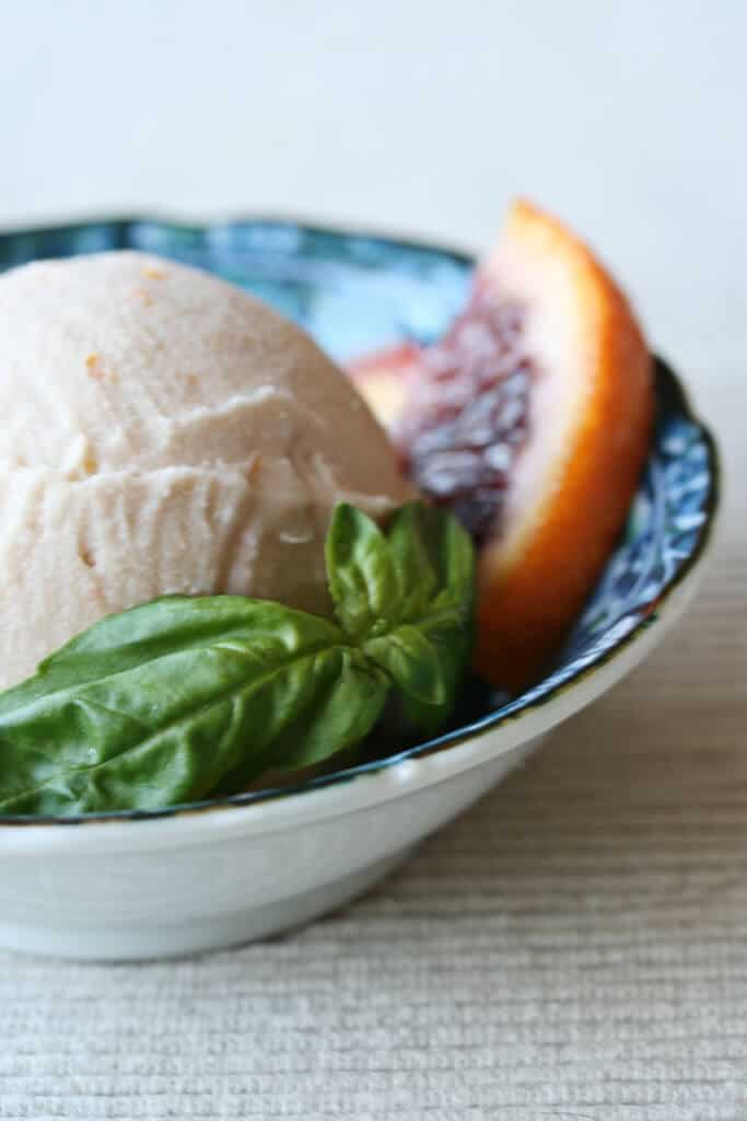 Ice Cream Experiments: Blood Orange Basil Ice Cream