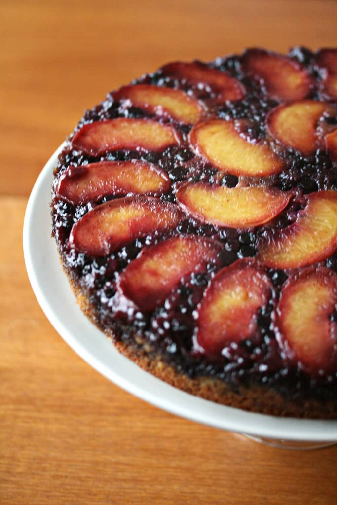 Blueberry-Peach Upside Down Cake