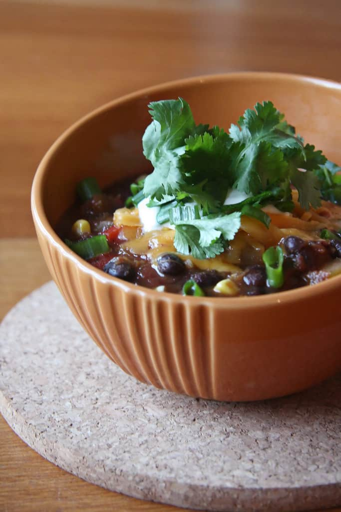 Trick or Treat – Pumpkin and Black Bean Chili