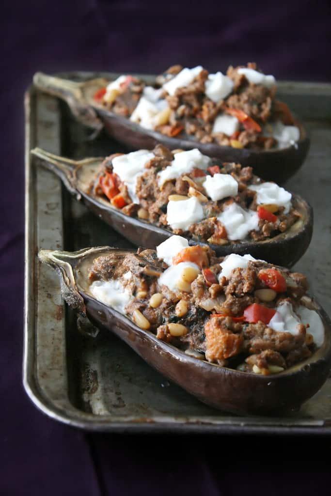 Get Stuffed!: Stuffed Eggplants with Lamb Filling