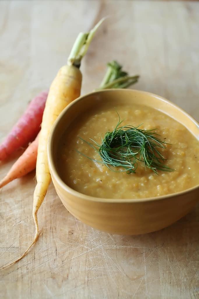 Walking on Sunshine: Fall Vegetable and Red Lentil Soup