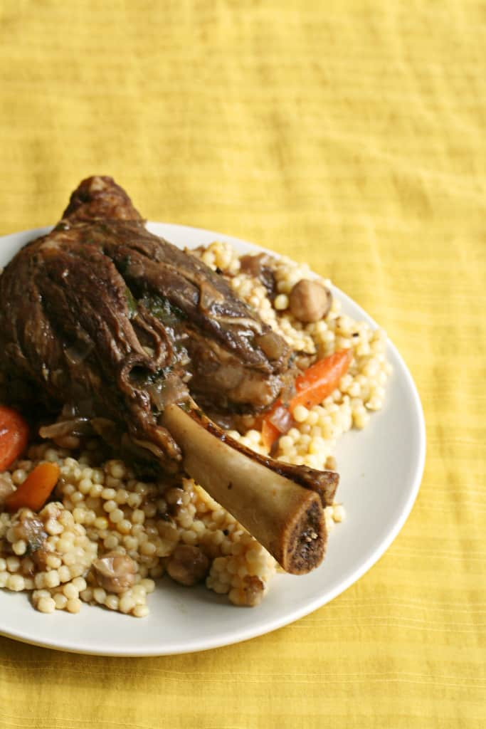 Braised Be The Lamb – Lamb Shanks w/ Pomegranate & Chickpeas