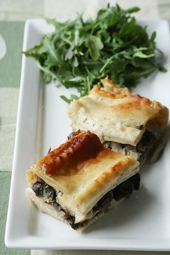 White Turkey Lasagna with Mushrooms