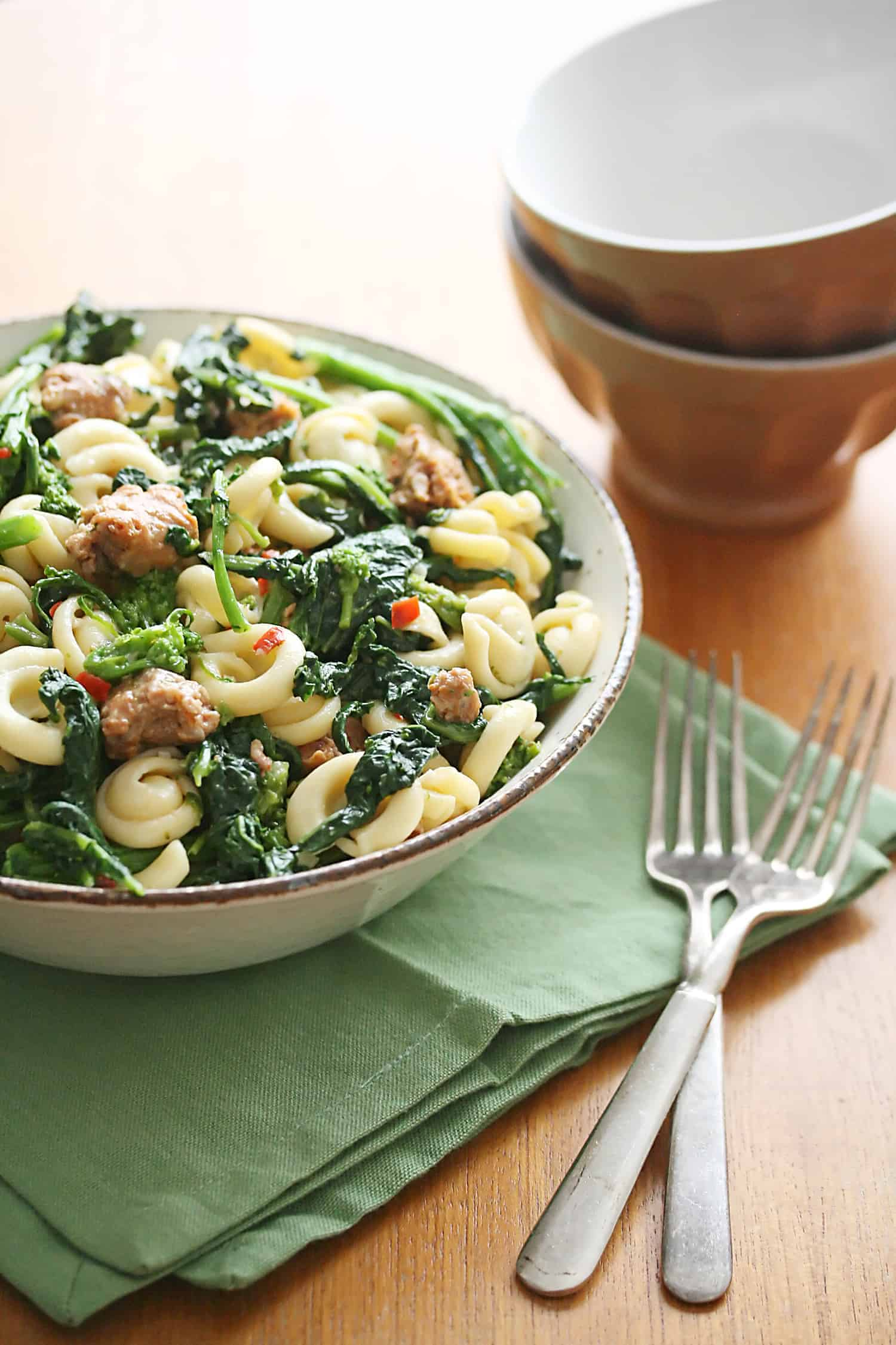 Second Chances: Spicy Sausage and Rapini Pasta
