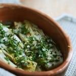 Kitchen Play – Braised Endive with Herb Gremolata