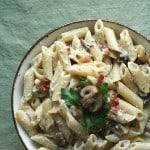 Finding Inspiration – Mushroom Carbonara Pasta