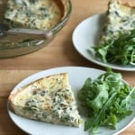 New Beginnings – Spring Leek and Fiddlehead Quiche