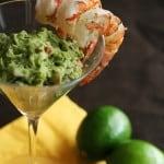 Viva Avocado! – Margarita Shrimp with Grilled Avocado Guacamole