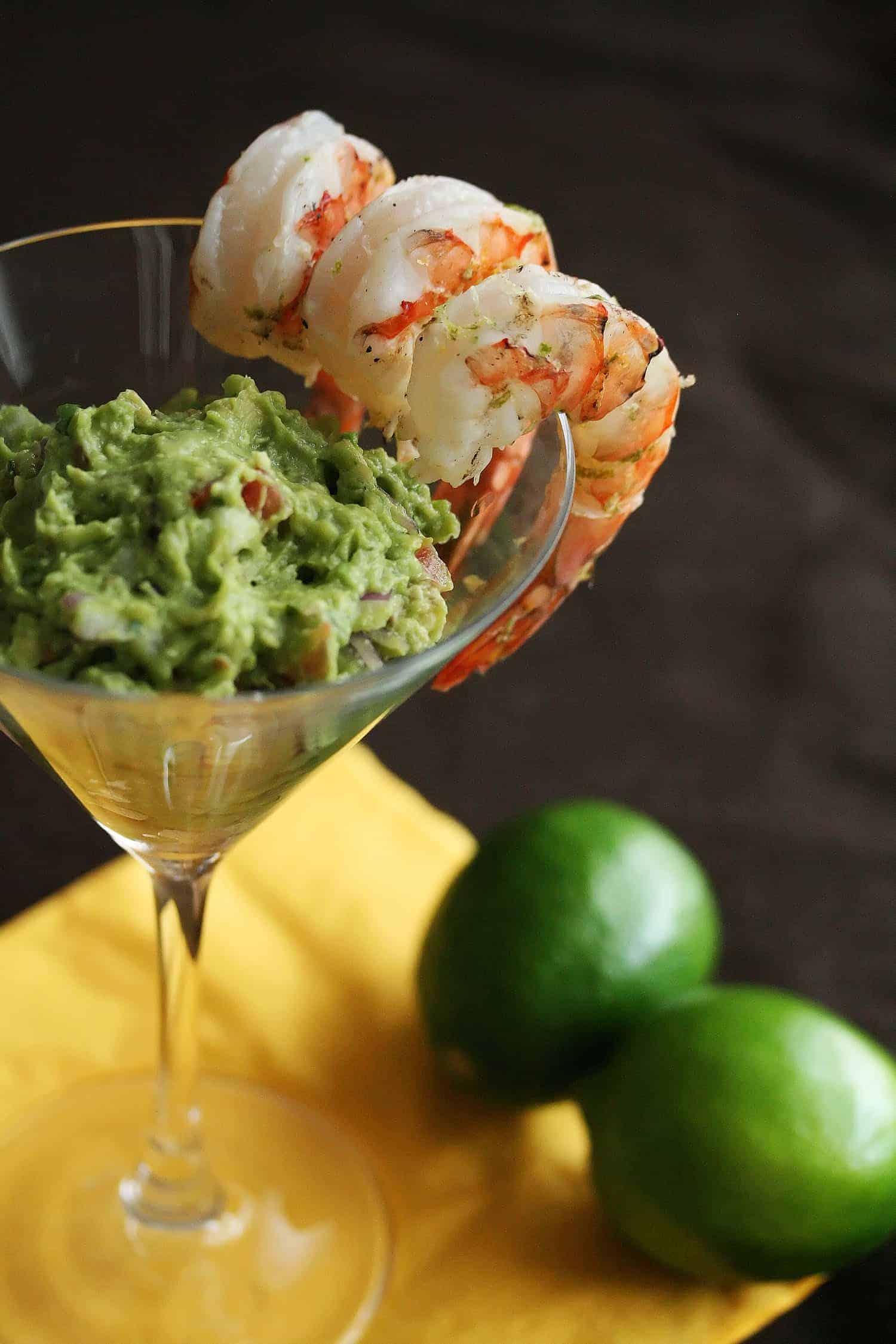 Viva Avocado! - Margarita Shrimp with Grilled Avocado Guacamole ...