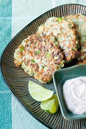 Out of the Frying Pan: Zucchini, Pea and Mint Fritters