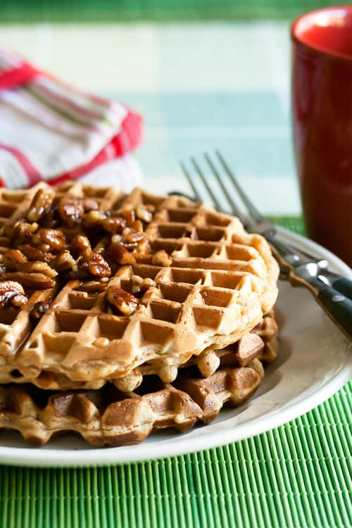 Canadian Tire Kitchen Crew: Gingerbread Waffles with Maple-Pecan Syrup