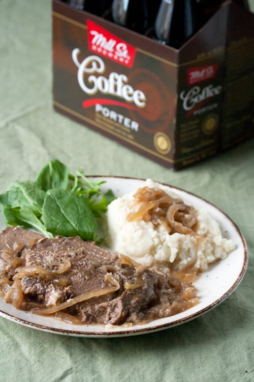 A Simple Plan: Mom's Pot Roast with Beer and Onions