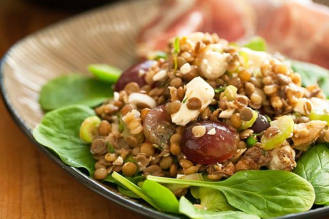 Secret Recipe Club: Lentil Salad with Grapes and Feta