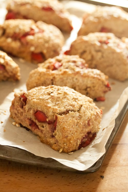 Strawberry Oatmeal Scones