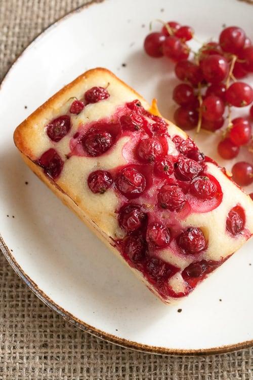 Red Currant Yogurt Cake