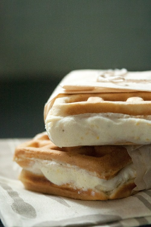 Summer Lovin': Lemon-Rosemary Gelato Waffle-wiches