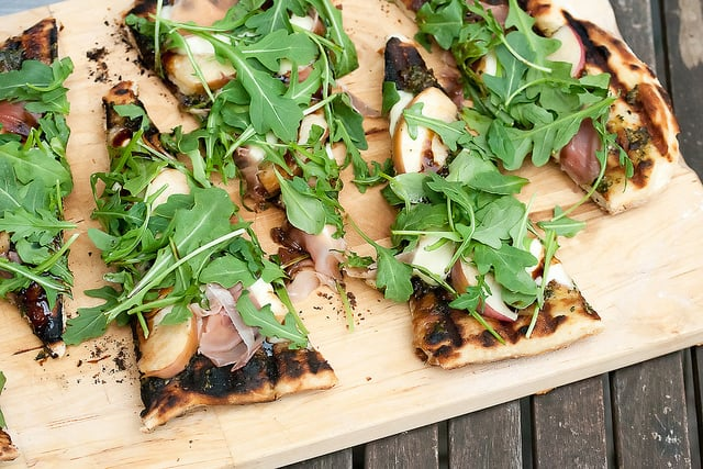 Peachy Keen: Grilled Peach, Prosciutto and Bocconcini Pizza