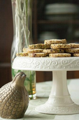 Saffron-Cardamom Icebox Cookies