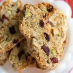 Christmas Week: Cranberry-Pistachio Christmas Biscotti