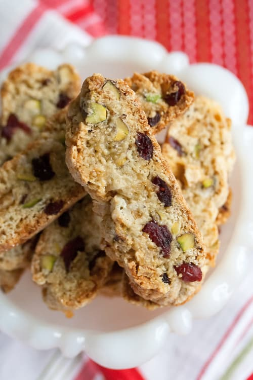 Christmas Week: Cranberry-Pistachio Christmas Biscotti