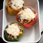 Secret Recipe Club: Mexican-Style Vegetarian Stuffed Peppers