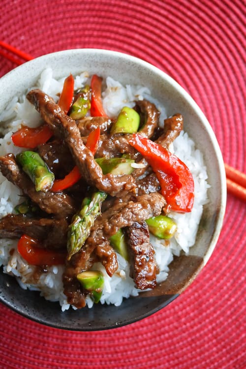 Beef and Asparagus Stir Fry