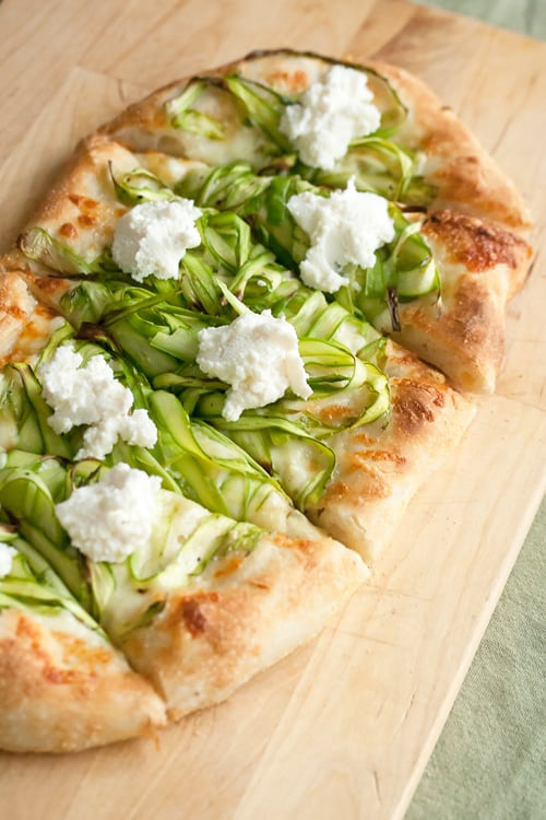 Rites of Spring: Shaved Asparagus Pizza | Crumb: A Food Blog