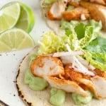 Spicy Fish Tacos with Avocado Sauce