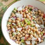 Suddenly Summer: Chickpea Salad with Roasted Lemon Vinaigrette