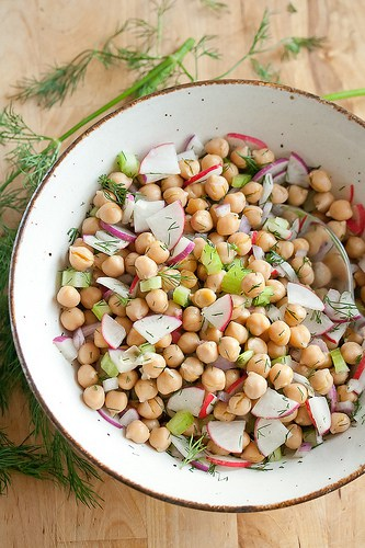 Suddenly Summer: Chickpea Salad with Roasted Lemon Vinaigrette | Crumb: A Food Blog