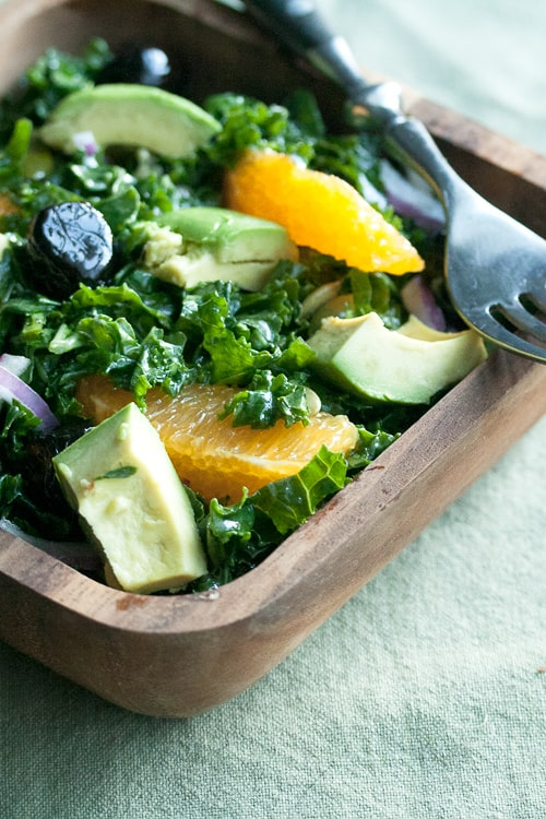 Making Friends with Salad: Shredded Kale and Orange Salad, plus a Cooking with CUTCO Giveaway | Crumb: A Food Blog