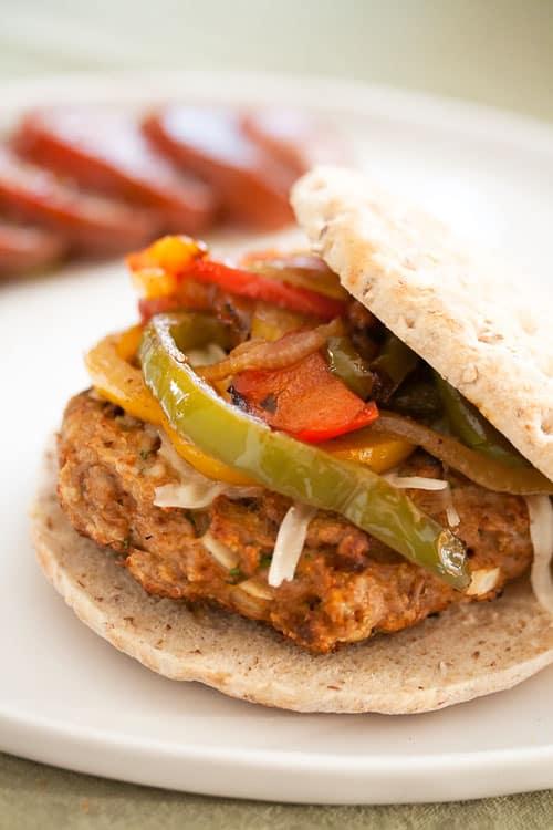 Living Fajita Loca: Chicken Fajita Burgers   Crumb: A Food Blog