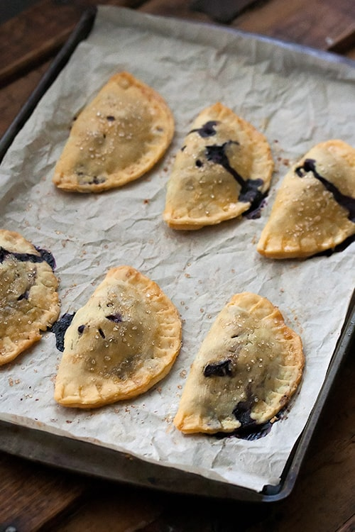 End of Summer Blues: Wild Blueberry Basil Hand Pies | Crumb: A Food Blog