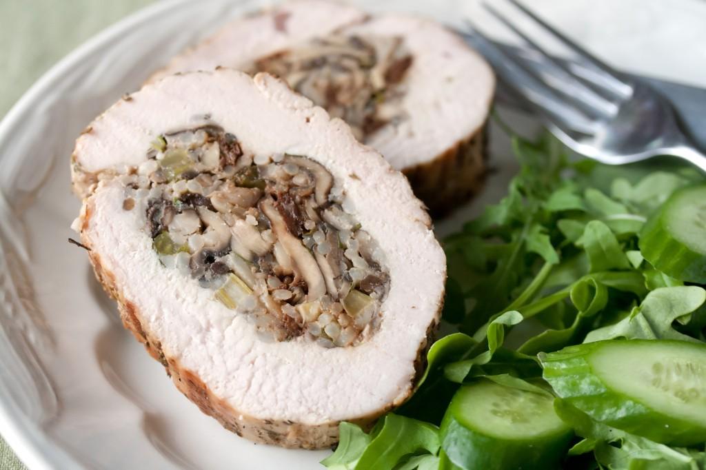 Grilled Stuffed Turkey Breast