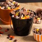 Chocolate Peanut Butter Halloween Puppy Chow