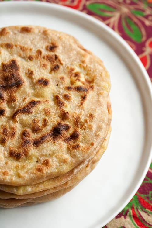Secret Recipe Club: Aloo Parathas (Indian Potato Flatbread)