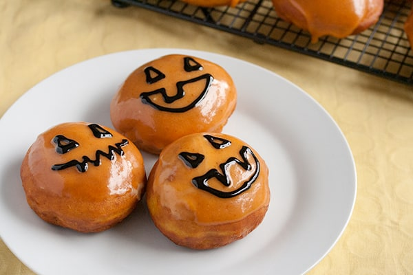 Pumpkin Donuts with Peanut Butter Cream
