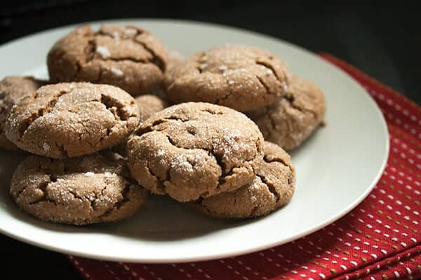 Peanut Butter Gingerbread Crinkles
