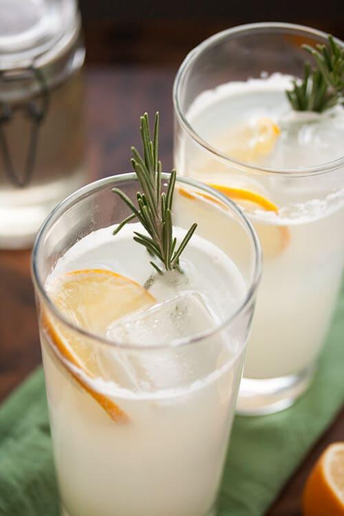 Little Miss Sunshine: Meyer Lemon Rosemary Gin Fizz for #CocktailDay | Crumb: A Food Blog