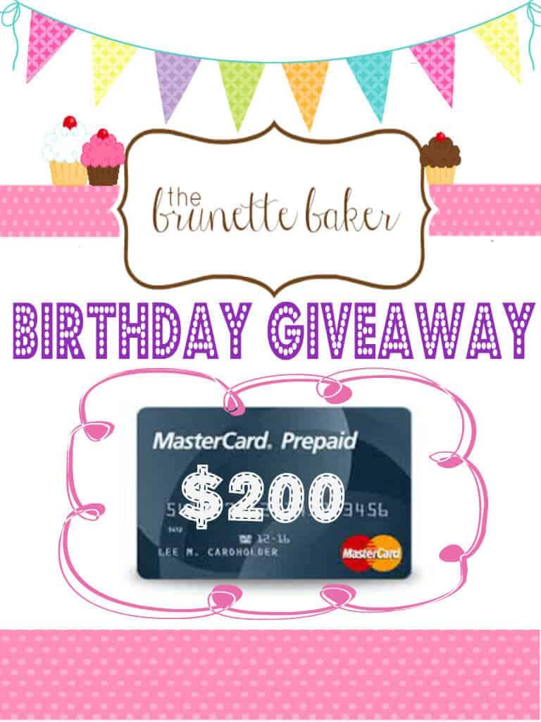 Brunette Baker Giveaway