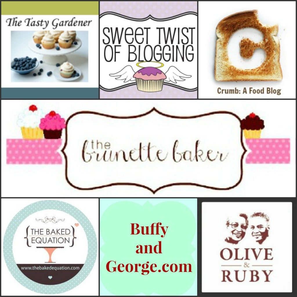 Brunette Baker Giveaway Blogger Collage