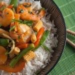 Secret Recipe Club: Thai Red Curry Shrimp with Vegetables