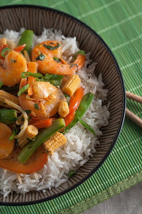 Thai Red Curry Shrimp with Vegetables