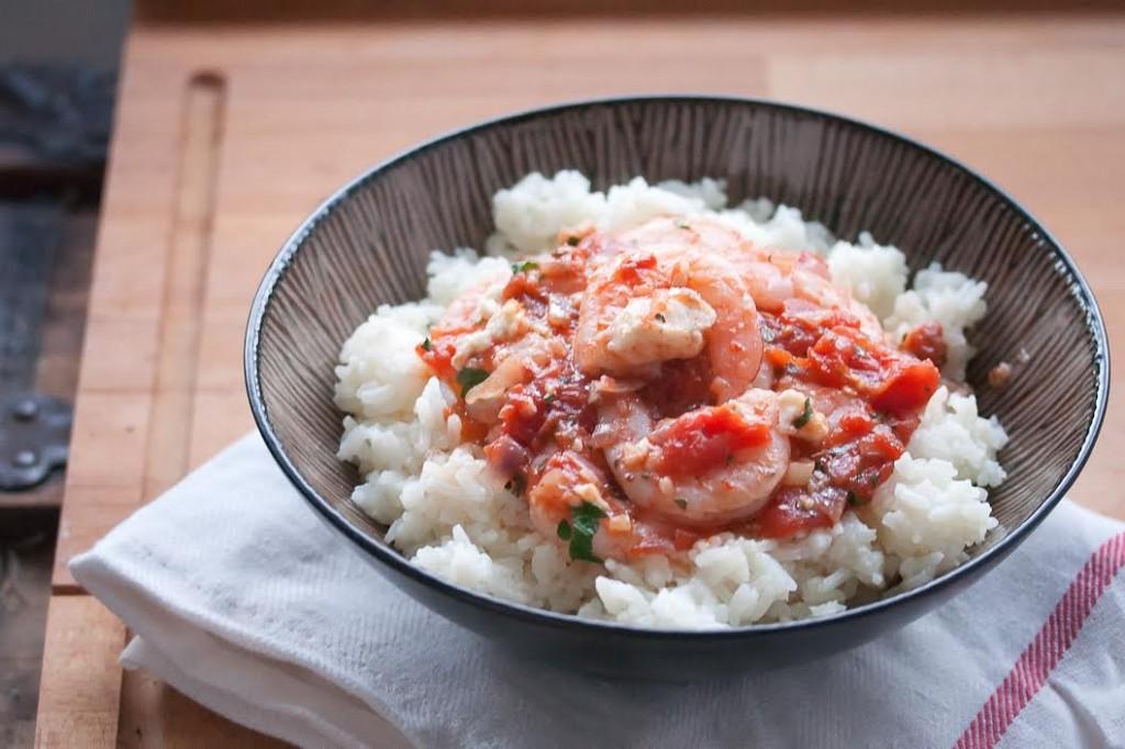 Saganaki Shrimp