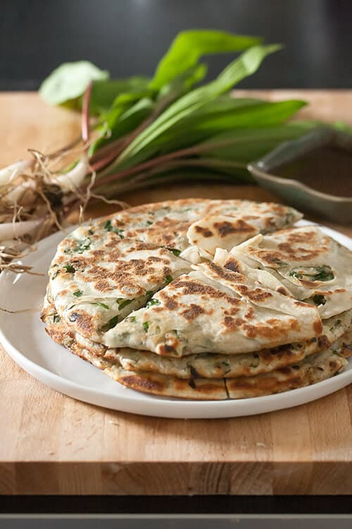 Flaky Chinese-Style Ramp Pancakes